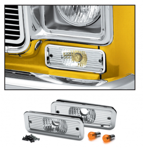 Custom Parklight Set 1973-80 Single Round Headlight