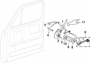 Front Manual Window Components