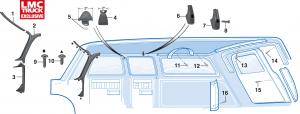 Interior Cab Molding Components