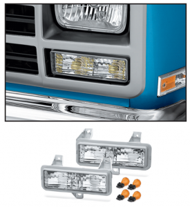 Custom Parklight Set 1989-91 with Single Headlight