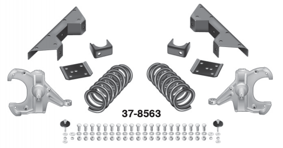Coil and Spindle Lowering Kit