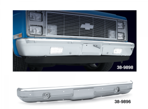 1973-87 Custom Chrome Front Bumper Lighted