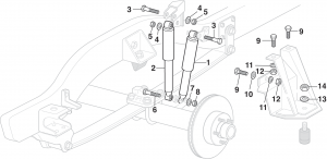 Front Quad Shock Absorbers - 4WD