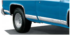 Stainless Steel Fleetside Rocker Panel Trim Set Covers Up Rust and Scratches
