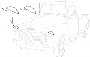 Universal Chrome Headlight Visor Set