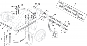 Front Leaf Spring and Components - 4WD
