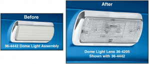 Clear Dome Light Lens ... For a Brighter Light and a Cleaner Look