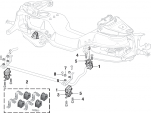 Front Sway Bar Components 2 Wheel Drive