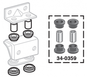 Polyurethane Transfer Case Torque Mount Grommet Set