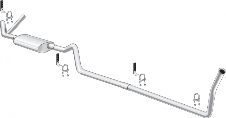 Complete Inline 6 Cylinder Single Bolt-On Exhaust Systems