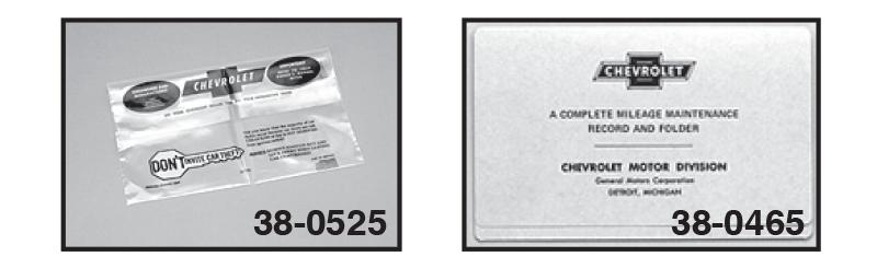 Owner's Manual Envelope and Maintenance Schedule Folder