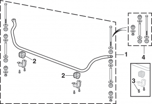 Front Sway Bar and Components - 4WD