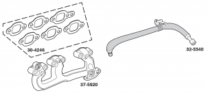 Exhaust Manifolds and EGR Tube