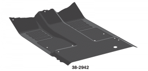 Rubber Floor Mat Is One Piece Replacement for OE Mats