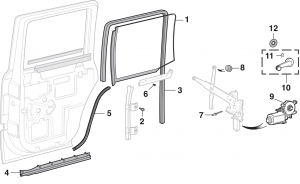 Side Rear Door Glass and Components