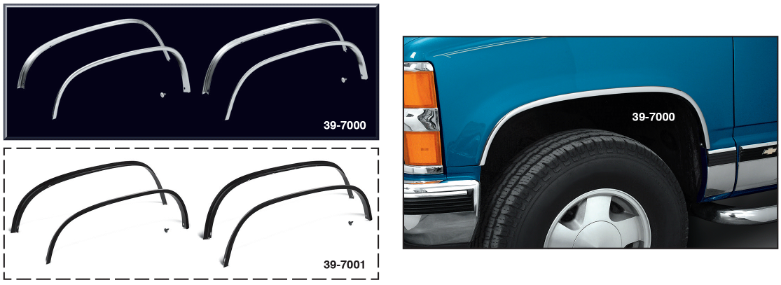 OE Style Aluminum Wheel Arch Molding ... Quick and Easy Replacement