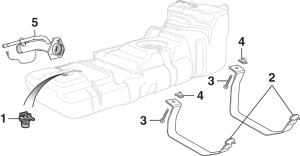 Gas Tank and Components - 4 Door Models