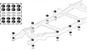 Polyurethane Cab / Body Mount Bushing Sets