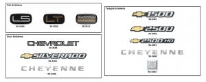 Silverado Emblems