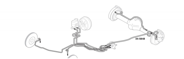 "96/"" Bed Brake Line Kit; Stainless Ext 99-02 Silverado // Sierra 1500 4 WD"