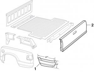Crew Cab Steel Bed Panels