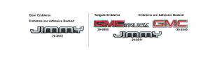 Emblems for GMC