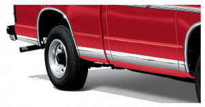 Stainless Steel Rocker Panel Trim Set Covers Up Rust and Scratches