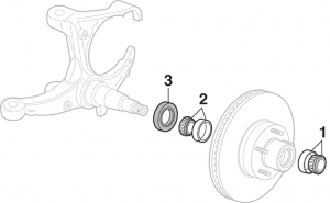 Front Wheel Bearings - 2WD