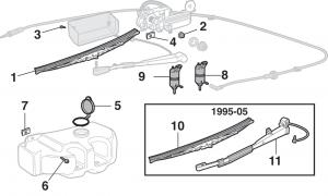 Rear Window Wiper Components
