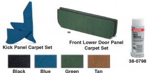 Kick Panel • Lower Door Panel Carpet