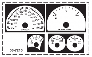 White Face Gauge Overlays