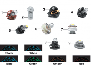 Bulbs for Instrument Cluster and Heater Control