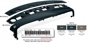 2002-05 Dash Pad and Defrost Vent Cover