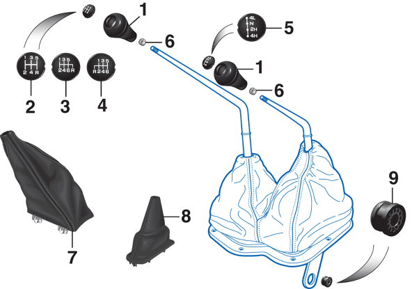 Manual Transmission and Transfer Case Shift Components