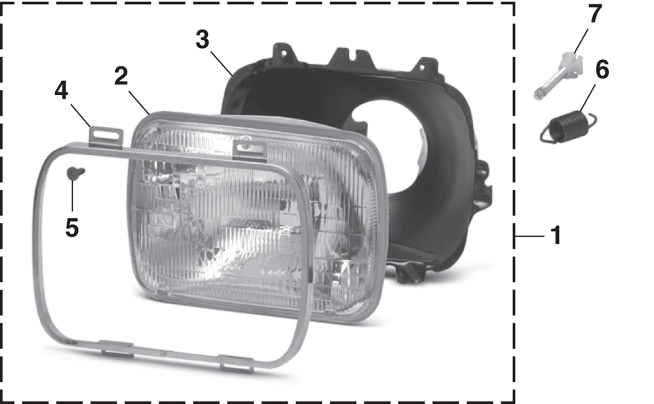 Headlight - Models with Single or Sealed Beam Headlights