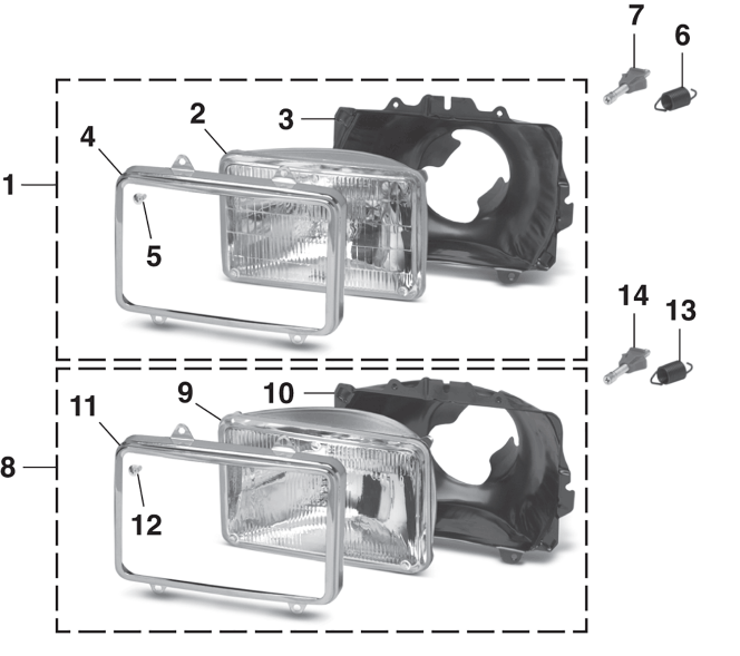 Headlight - Models with Dual Headlights
