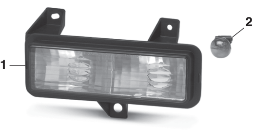 Parklight - Models with Single Headlights