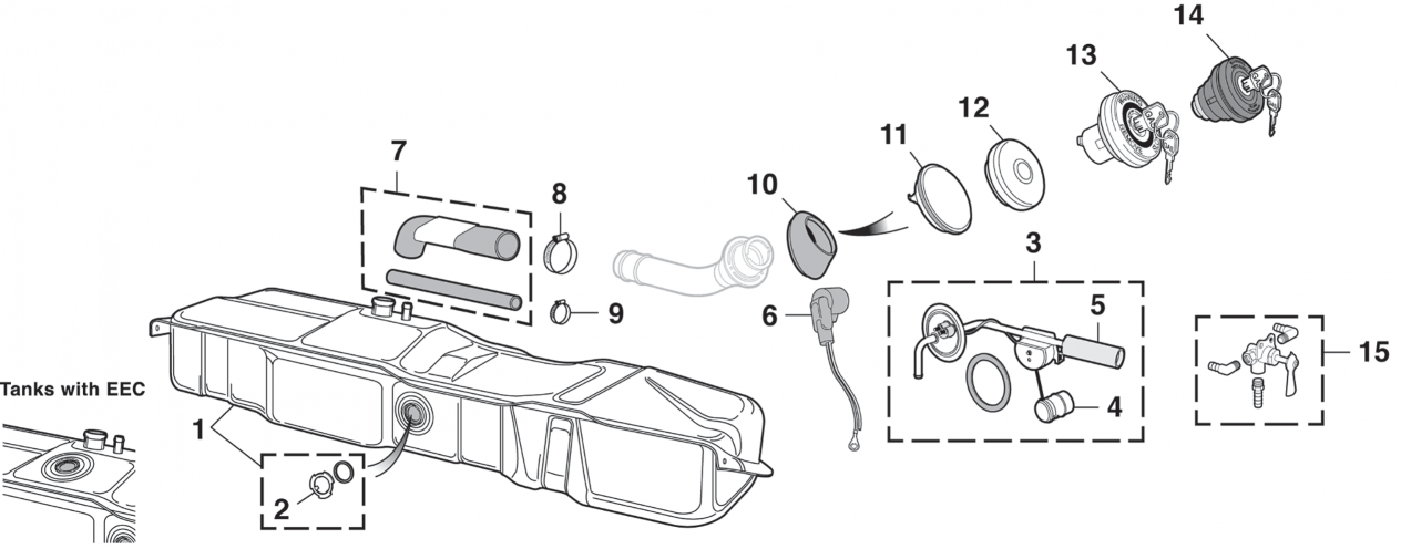 Side Mount Gas Tank and Components