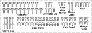 Stainless Steel Interior Trim Screw Kits