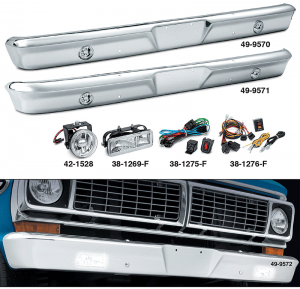 1964-72 Custom Chrome Bumpers Lighted for Your Truck