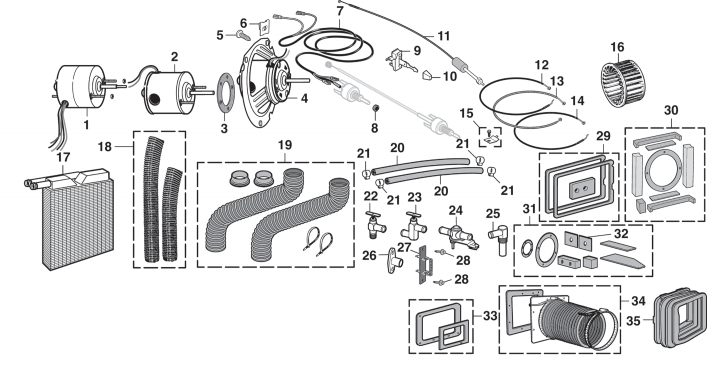 1977 ford f100 wiring diagram of heater heater components  heater components