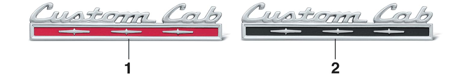 Cab Back Emblems
