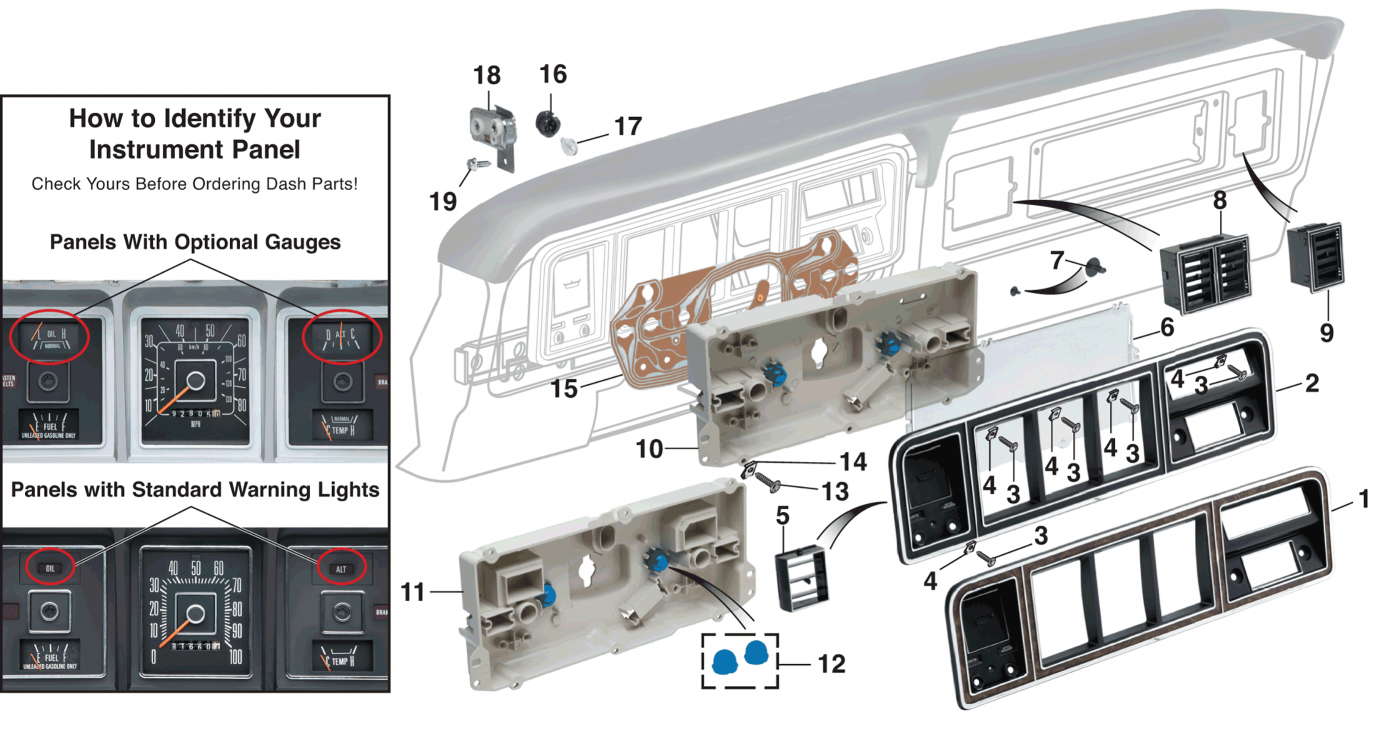 1986 ford f 250 instrument cluster wiring diagram dashboard components  dashboard components