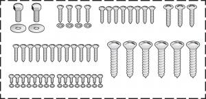 Stainless Steel Interior Trim Screw Kit