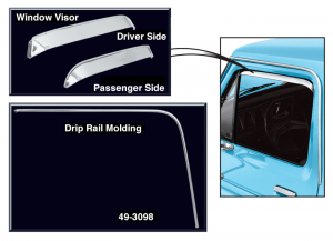 Drip Rail Molding and Window Visor