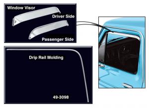 Drip Rail Molding and Window Visor