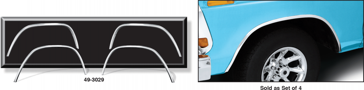 OE Style Aluminum Wheel Arch Molding Kit ... Quick andEasy Replacement