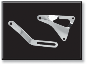 Chrome Alternator Brackets
