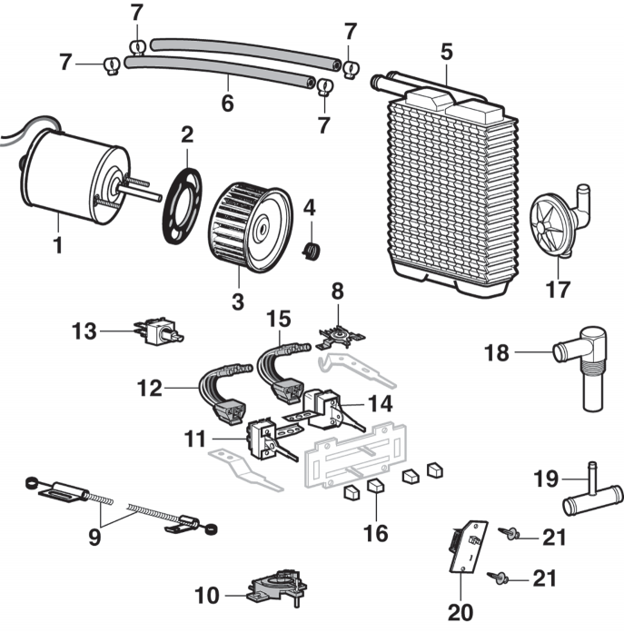 1977 ford f100 wiring diagram of heater heater components fresh air type  heater components fresh air type