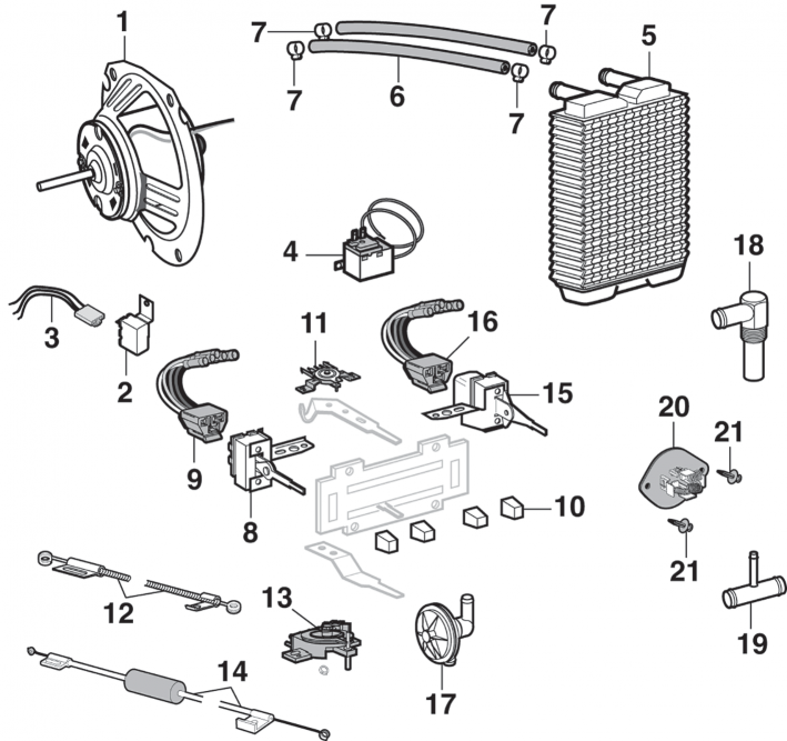 heater components with factory a  c